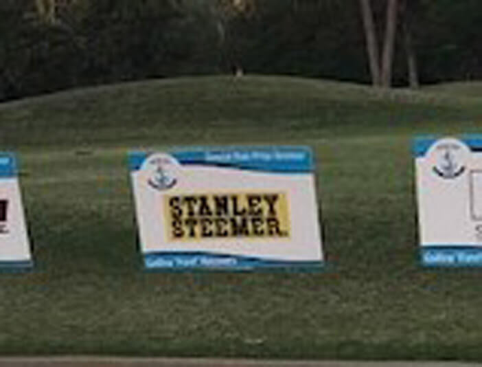 Stanley Steemer Sponsorship sign in Leesburg Georgia