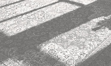 Sun shining on an oriental area rug.